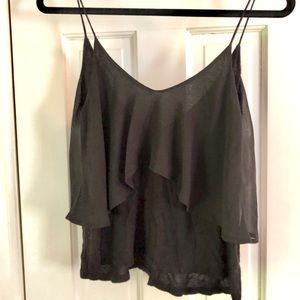 Sparkle & Fade Tops - Urban Outfitters Sheer Overlay Tank